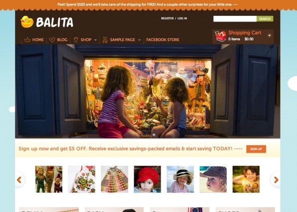 Responsive WordPress-Theme: Balita.