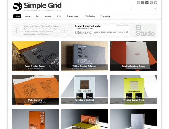 Responsive WordPress-Theme: SimpleGrid.