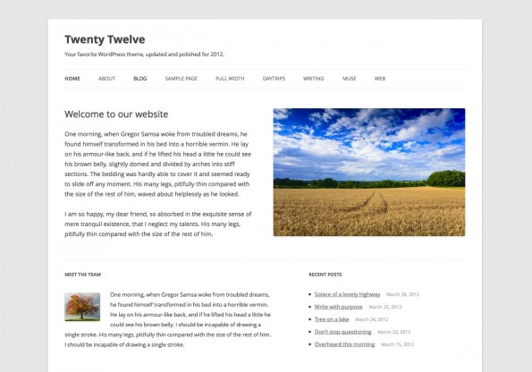 Responsive WordPress-Theme: TwentyTwelve.