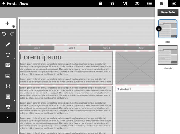 Screenshot von Adobe Proto