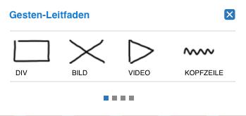 Screenshot von Adobe Proto Gesten