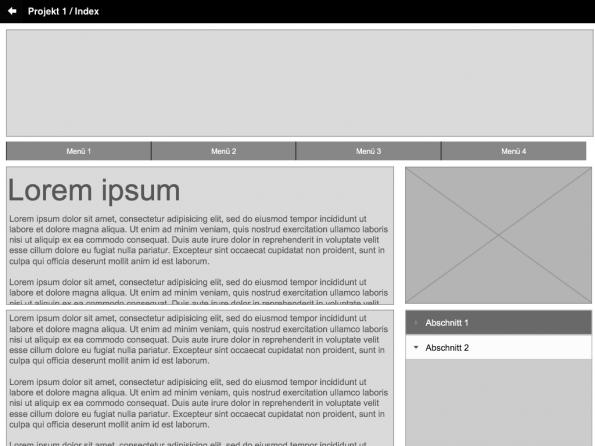 Adobe Proto Vollbild Ansicht