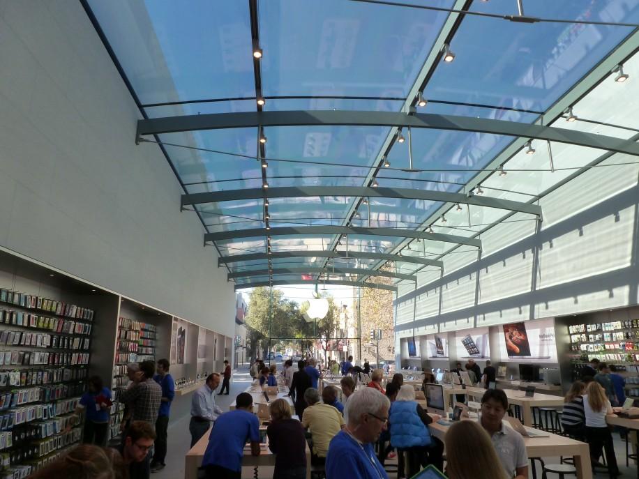 Beeindruckend: Der neue Apple Store in Palo Alto.