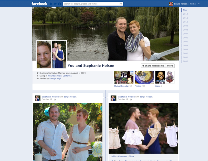 Neues Design zeigt Facebook Freundschaft anschaulicher