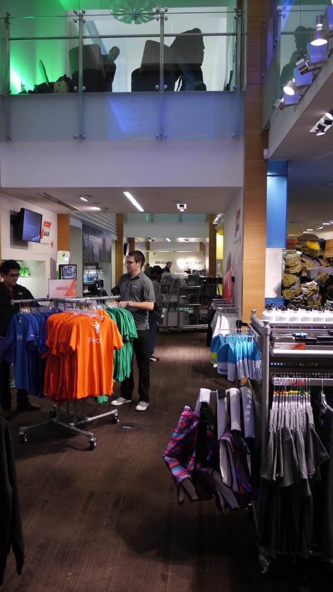 Der interne Microsoft Store für Besucher und Mitarbeiter.