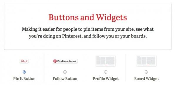 Pinterest Unternehmensprofile Buttons Widgets