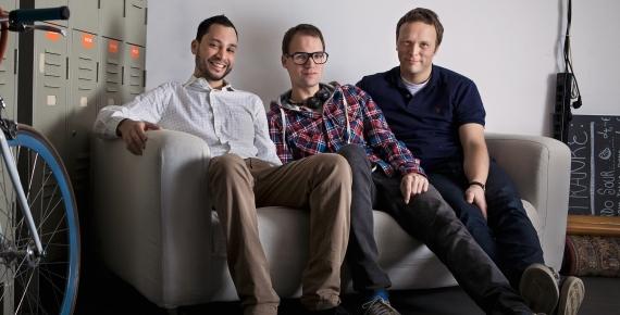 doctape Gründer Ricardo Ferrer Rivero, Sascha Reuter und Sven Hohlfeld