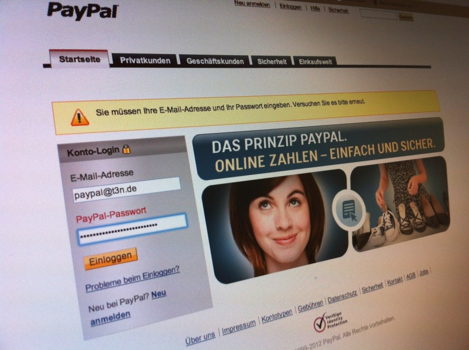Paypal Logins in Anonymous-Hand?