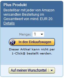 (Kostenloser) Versand bei Amazon erst ab 20 Euro