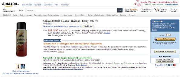 Amazon: Kostenloser Versand wird eingeschränkt
