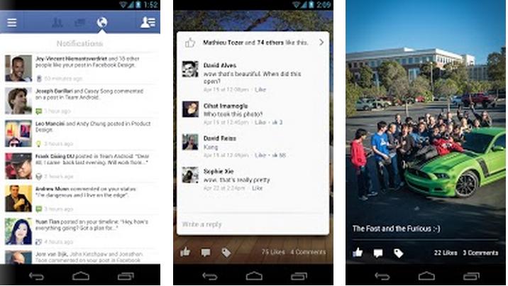 Endlich gibt es die native Facebook-App auch für Android.