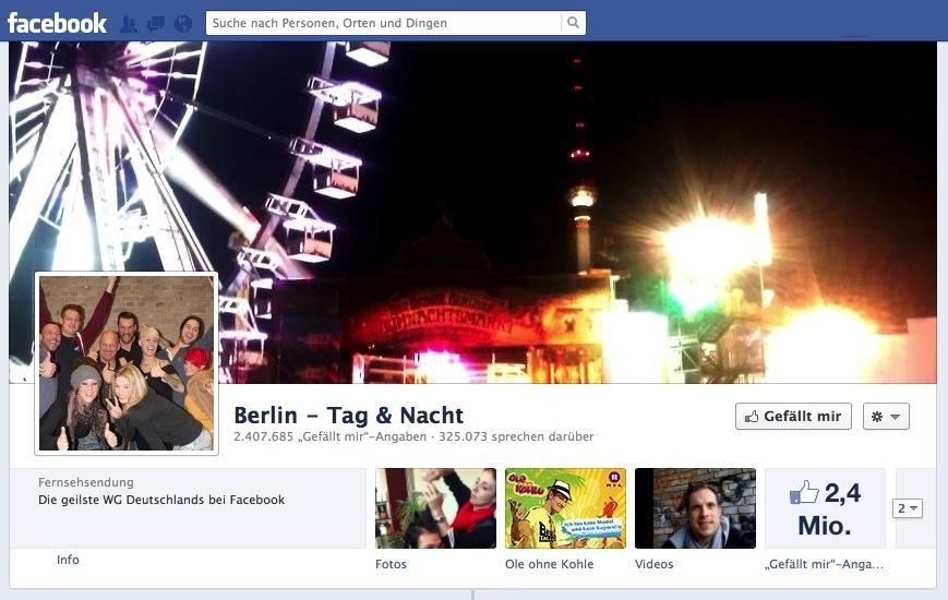 """""""Die geilste WG Deutschlands bei Facebook"""" folgt dem BVB auf dem zweiten Platz."""
