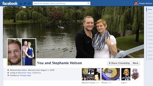 Facebook Partner-Chronik: Paare und Freunde erhalten automatisch gemeinsame Seite