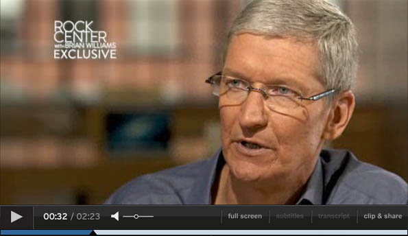 Apple-Chef Tim Cook im TV-Interview über künftige Mac-Produktion in den USA