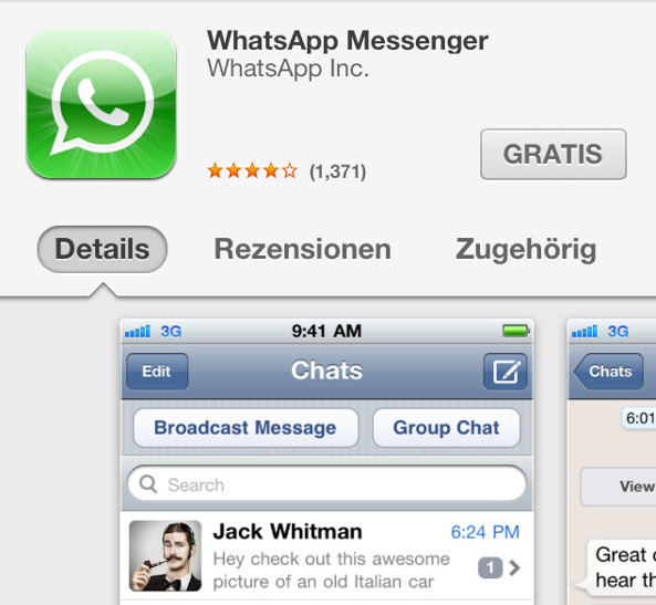Whatsapp iPhone kostenlos download