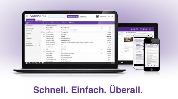 Yahoo Mail wurde plattformübergreifend überarbeitet, doch die neuen Nutzungsbedingungen räumen dem Konzern weitreichende Möglichkeiten ein. (Screenshot: yahoo.com)