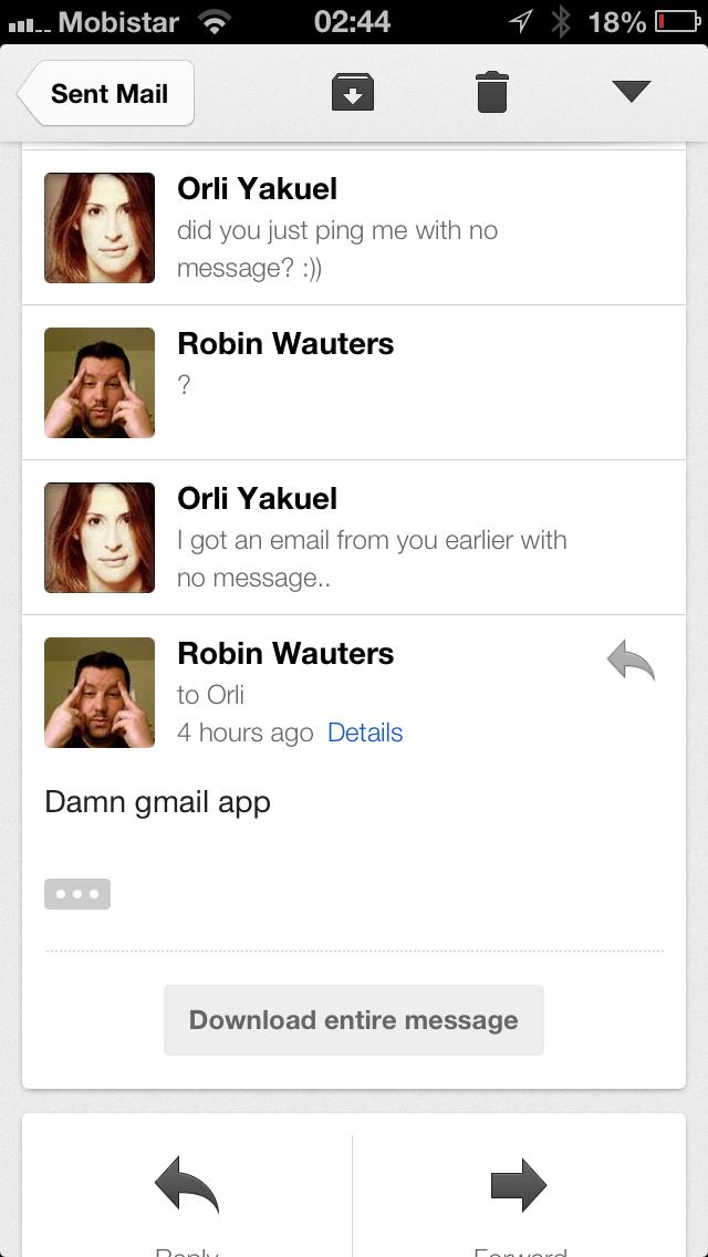 Gmail iOS Bug (Foto: TheNextWeb)