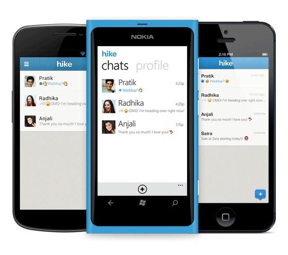 Hike: WhatsApp-Alternative für iOS, Android und Windows Phone. (Bild: Hike)