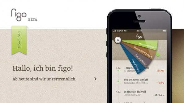 Die Mobile-Banking-Applikation figo weiß durch ein schickes Design zu gefallen.