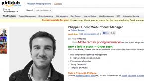 Produktmanager verkauft sich selbst auf nachgebauter Amazon-Seite