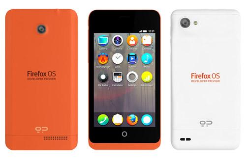"""Die ersten Smartphones mit Firefox OS kommen auf den Markt: """"Keon"""" und """"Peak""""."""