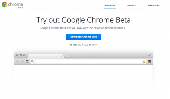Google Chrome 25 beta