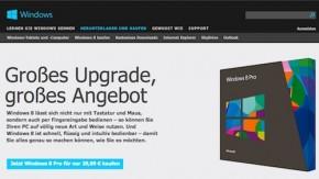 Windows 8: Microsoft hebt Preise ab Februar deutlich an