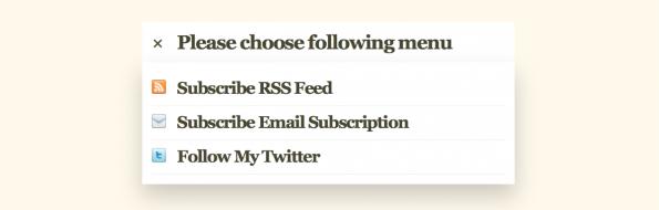 CSS3 Menu