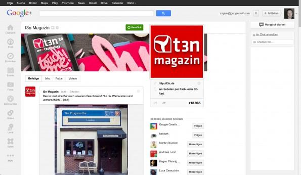 Google+ Flat Design