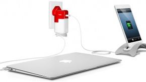PlugBug: Adapter lädt Macbook und iPad/iPhone an einer einzigen Steckdose