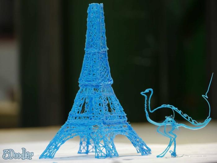 Ein besonders aufwendiges Beispiel für die Ergebnisse des 3Doodlers.