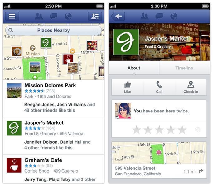 """Facebooks angeblich neueste App würde die Funktion """"Nearby"""" um Menschen aus dem eigenen Freundeskreis erweitern."""
