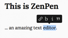 ZenPen macht deinen Browser zum Texteditor