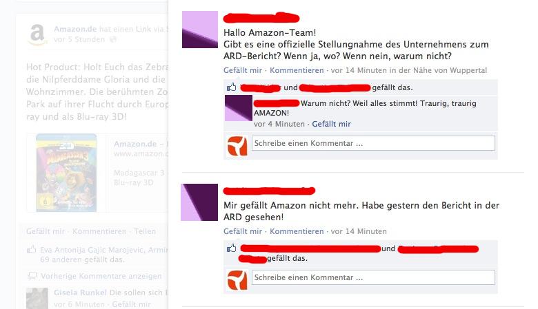 """Viele """"Fans"""" fordern eine Stellungnahme von Amazon.de - bisher ohne Erfolg."""