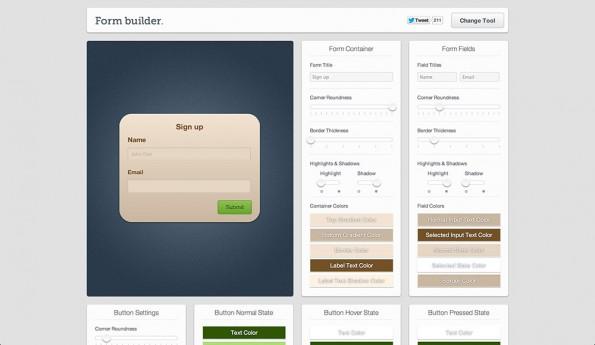 form builder webworker tools