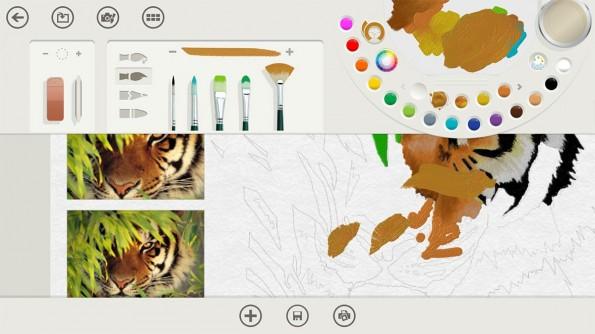 Microsofts Fresh Paint ist eine klassische Bildbearbeitung sondern ein Programm für digitale Malerei auf hohem Niveau.