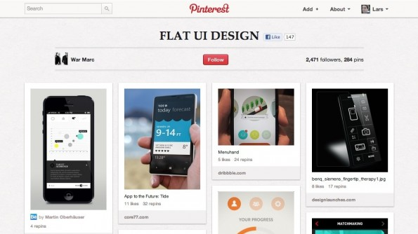 Flat Design Webdesign Inspiration