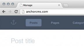 Anchor CMS: Minimalistisches System für Blogger