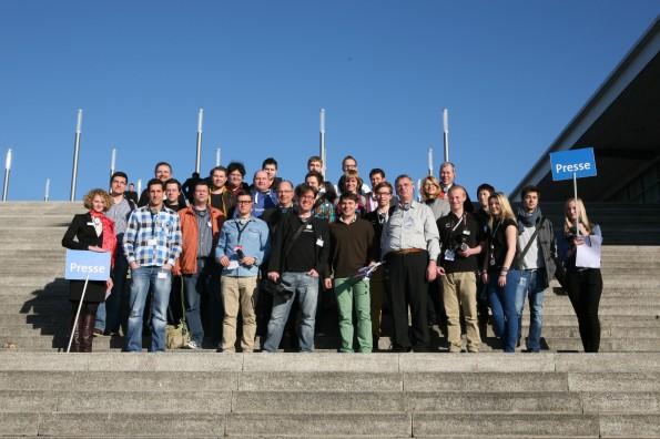 Die Teilnehmer der CeBIT-Bloggertour 2013. (Foto: t3n)