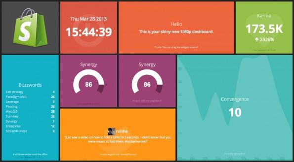 Dashing ist ein Framework auf Sinatra-Basis zur Erstellung übersichtlicher Dashboards. (Screenshot: t3n)