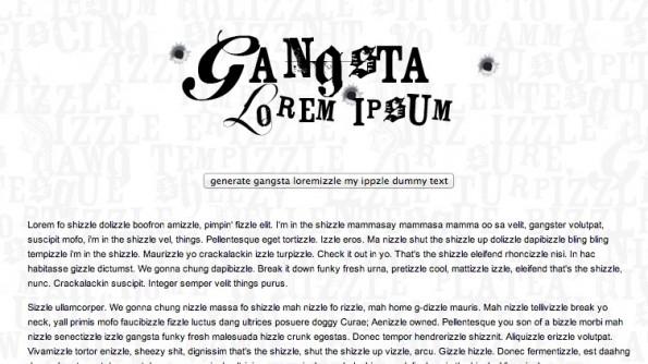 Lorem Ipsum Alternativen Gangsta Ipsum