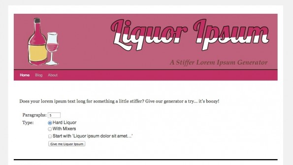 Lorem Ipsum Alternativen Liquor Ipsum