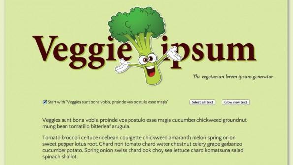 Lorem Ipsum Alternativen Veggie Ipsum
