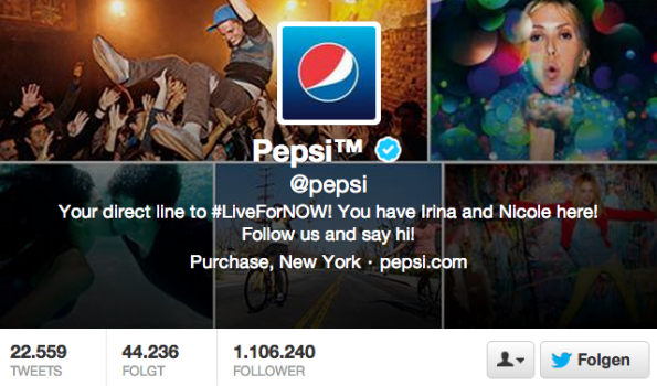 Twitter-Follower - Pepsi