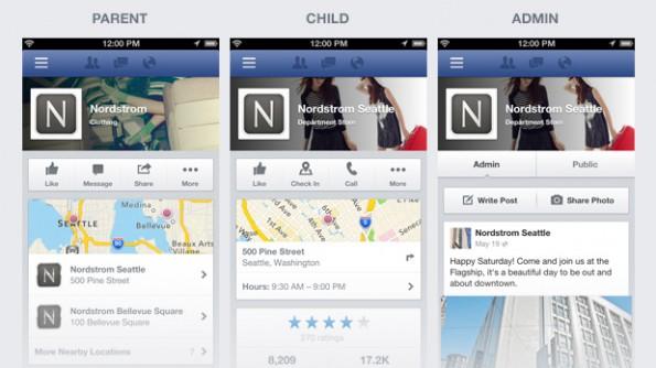 Das neue Design der Mobile Fanpages soll Besuchern einen schnelleren Zugriff auf wichtige Informationen ermöglichen.