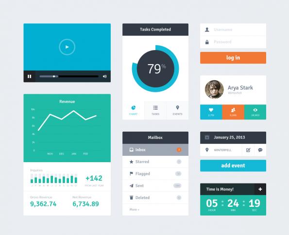 Ein weiteres Beispiel für den Design-Trend Flat-Design.