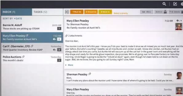 Handle ist eine To-do-Liste, die mit deinem Gmail-Account verbunden ist und Mails in Aufgaben kategorisiert. (Bild: Screenshot)