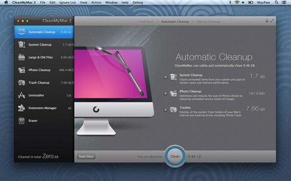 Mit dabei im Bundle von MacHeist: CleanMyMac 2.