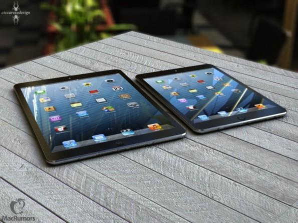 Mockup: iPad 5 und iPad mini – beide im gleichen Design (Bild: MacRumors)