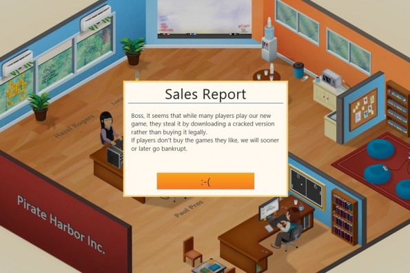 Wer das Spiel via BitTorrent heruntergeladen hatte, wurde mit demselben Effekt im Spiel selbst konfrontiert.